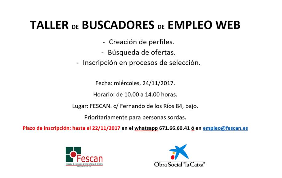 TALLER DE BUSCADORES DE EMPLEO WEB