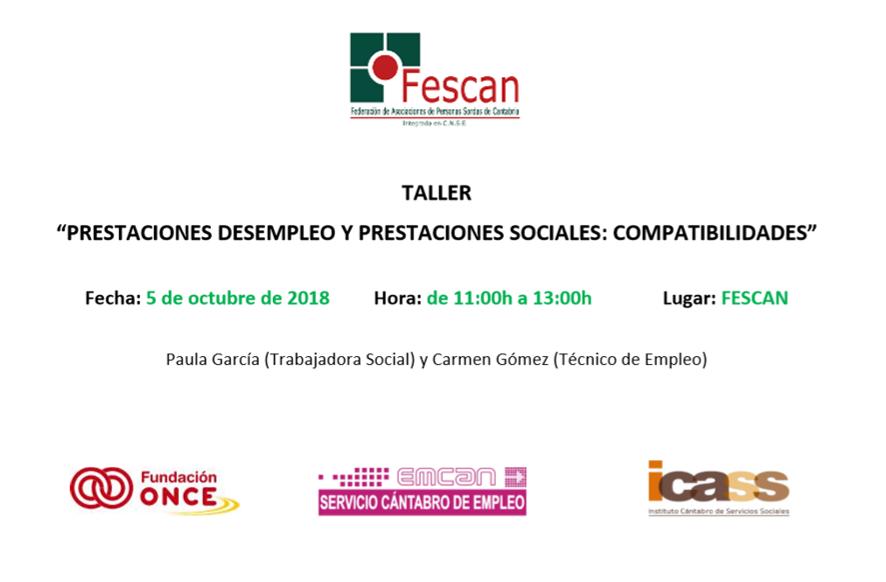 TALLER: PRESTACIONES DE DESEMPLEO Y PRESTACIONES SOCIALES. COMPATIBILIDADES