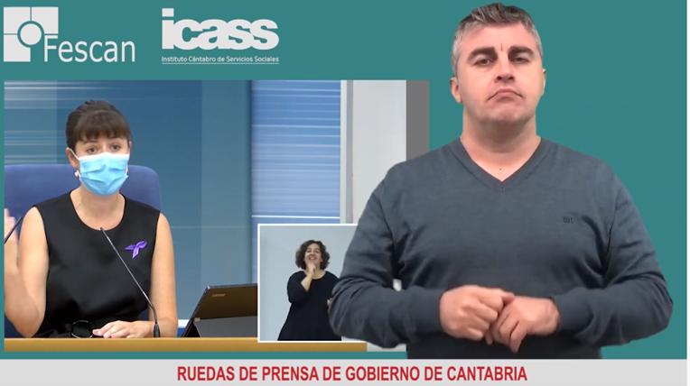 CÓMO ACCEDER A LAS RUEDAS DE PRENSA DEL GOBIERNO DE CANTABRIA ADAPTADAS A LA LSE