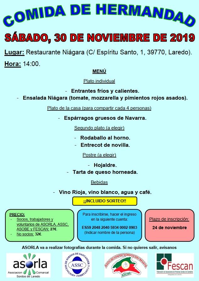 COMIDA DE HERMANDAD DE LA COMUNIDAD SORDA DE CANTABRIA