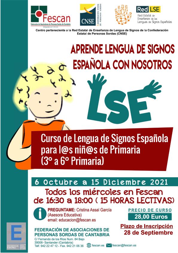 CURSO DE LENGUA DE SIGNOS PARA NIÑOS/AS